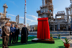 Project of increasing petrol capacity production and improving quality of gas oil and petrol of Bandar Abbas Oil Refining Co. is launched in presence of Mr Rouhani, Monday, February 18, 2019.