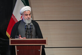 Iranian President delivers a speech in Pardis Technology Park, Iran, Tehran, February 23, 2019.