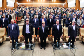 Unveiling ceremony of Iran's new banking products in 'Melli Show 2' event, Iran, Tehran, February 24, 2019.