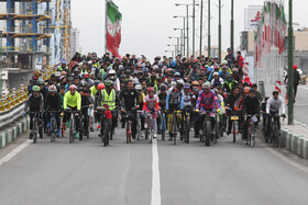 Big event of riding bicycles in Tehran