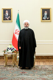 Iranian President Hassan Rouhani is seen before meetings with officials of other countries, Iran, Tehran, March 9, 2019.