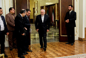 Iranian Foreign Minister Mohammad Javad Zarif is seen during Mr Rouhani's meetings with new ambassadors, Iran, Tehran, March 9, 2019.
