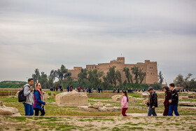 Historical Apadana Castle, Iran, Shush, March 9, 2019.