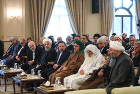 Mr Rouhani's meeting with Iraq's religious and nomadic figures and the heads of tribes, Iraq, March 12, 2019.