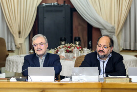 Minister of Cooperatives, Labour and Social Welfare Mohammad Shariatmadari (R) is present in Iran's cabinet meeting, Iran, Tehran, March 13, 2019.