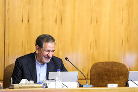 First Vice President Es'haq Jahangiri is present in Iran's cabinet meeting, Iran, Tehran, March 13, 2019.