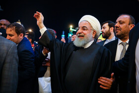 Iranian President visits Great Mosque of Kufa, Iraq, March 13, 2019.