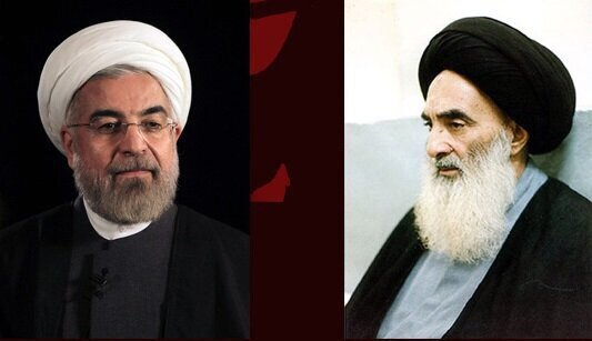President Rouhani holds meeting with Ayatollah Sistani