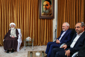 Mr Zarif meets Qom's Grand Ayatollahs