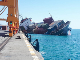 Container ship capsizes in Iran's Hormozgan