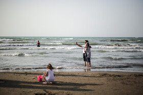 Coasts of Caspian Sea in Iran, August 12, 2019.
