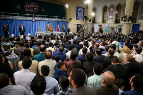 Iran's Supreme Leader Ayatollah Ali Khamenei delivers a speech in a ceremony for marking National Day of Guards, Iran, Tehran, April 8, 2019.
