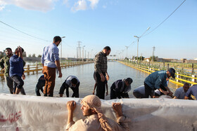 Khuzestan inundated by flood, clean-up operations in Lorestan