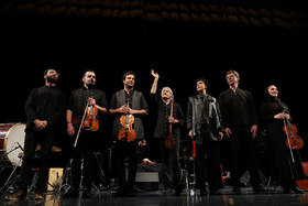 """""""Silent City"""" concert is performed in Tehran, Iran, April 13, 2019. Iranian musician and Kamancheh player Kayhan Kalhor and the """"Miniature"""" quartet group performed the concert."""