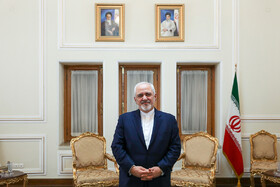 Iranian Foreign Minister Mohammad Javad Zarif meets with Italian Senate's Foreign Committee Vito Rosario Petrocelli, Tehran, Iran, April 14, 2019.
