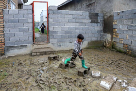 """Flood-hit """"Salaq Yelqi"""" village of Aq Qala City, Golestan, Iran, April 14, 2019. Since the village is located near Gorganrud River so the high water level of the river has caused great damages to houses and farmlands."""