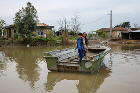 "Flood-hit ""Salaq Yelqi"" village of Aq Qala City, Golestan, Iran, April 14, 2019.