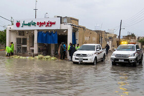Flood in Qeshm Island, Hormozgan, Iran, April 14, 2019.