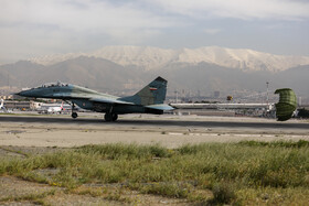 Manoeuvre of Iran's fighter aircrafts was performed at Mehraabad Air Base, Tehran, Iran, April 16, 2019.