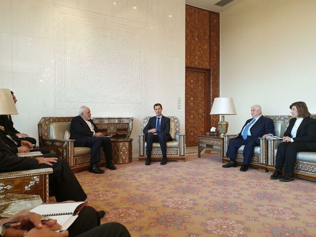 Iranian FM meets with Syrian President