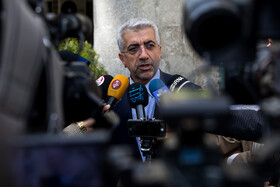 Iran's Minister of Energy Reza Ardakanian answers the questions of correspondents after Iran's cabinet meeting, Tehran, Iran, April 17, 2019.