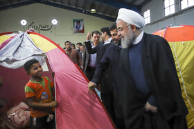 Mr. Rouhani visits Ahvaz City