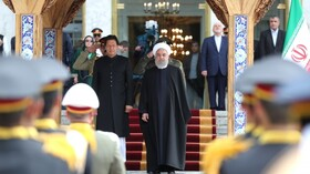 President Rouhani officially welcomes Pakistani PM