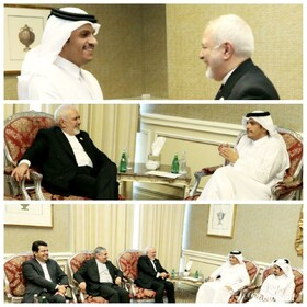 Iranian FM meets Qatari, Turkish counterparts in Doha
