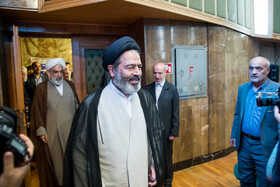 New representative of Wali al-Faqih in Hajj affairs Hujjatul-Islam Sayyed Abdul-Fatah Navab is seen in the photo, Tehran, Iran, May 5, 2019.