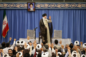 Seminary schools' students meet Iran's Leader