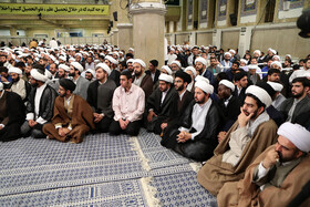 Meeting between Iran's Supreme Leader Ayatollah Ali Khamenei and seminary schools' students, Tehran, Iran, May 8, 2019.