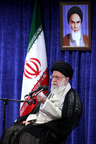 Iran's Supreme Leader Ayatollah Ali Khamenei gives a speech during his meeting with authorities, Tehran, Iran, May 14, 2019. On the eighth day of the auspicious month of Ramadan, the heads of power branches, officials and government authorities as well as a group of senior managers of various sectors, members of parliament, political, social and cultural activists met with the Leader of the Islamic Revolution Ayatollah Ali Khamenei.