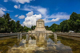"""Tomb of Ferdowsi is seen in the photo, Mashhad, Iran, May 15, 2019. Ferdowsi was a great Persian Poet who wrote one of the most important Iranian literary works, """"Shahnameh"""" meaning """"The book of kings""""."""