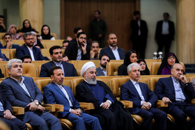 Meeting between Iranian President Hassan Rouhani and the young, Tehran, Iran, May 19, 2019.