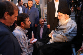 Meeting between a number of Persian language professors, poets and Iran's Supreme Leader Ayatollah Ali Khamenei, Tehran, Iran, May 20, 2019.