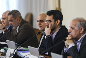 Minister of Communications and Information Technology Mohammad Javad Azari Jahromi (2nd, R) is present in Iran's cabinet session, Tehran, Iran, May 22, 2019.