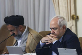 Iranian Foreign Minister Mohammad Javad Zarif (R) and Iran's Intelligence Minister Mahmoud Alavi are present in Iran's cabinet session, Tehran, Iran, May 22, 2019.