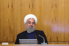 Iranian President Hassan Rouhani is present in Iran's cabinet session, Tehran, Iran, May 29, 2019.