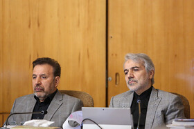 Head of Planning and Budget Organization Mohammad Bagher Nobakht (R) and Iranian President's Chief of Staff Mahmoud Vaezi are present in Iran's cabinet session, Tehran, Iran, May 29, 2019.