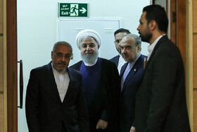 Iranian President Hassan Rouhani is seen on the sidelines of his meeting with athletes, Tehran, Iran, June 1, 2019.