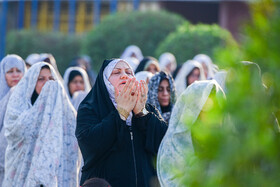 Offering Eid al-Fitr Prayers, Abadan, Iran, June 5, 2019. Eid al-Fitr is a celebration which shows the end of Muslim fasting month of Ramadan and Muslims celebrate it with offering prayers after a month of fasting.