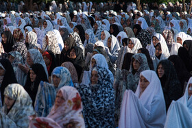 Offering Eid al-Fitr Prayers, Urmia, Iran, June 5, 2019. Eid al-Fitr is a celebration which shows the end of Muslim fasting month of Ramadan and Muslims celebrate it with offering prayers after a month of fasting.