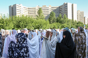 Offering Eid al-Fitr Prayers in Ekbatan, Tehran, Iran, June 5, 2019.