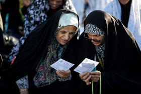 Offering Eid al-Fitr Prayers at Shah Abdol-Azim shrine, Tehran, Iran, June 5, 2019. Eid al-Fitr is a celebration which shows the end of Muslim fasting month of Ramadan and Muslims celebrate it with offering prayers after a month of fasting.