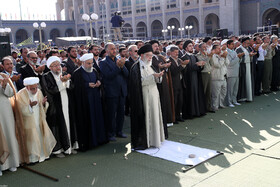 People of Tehran offer Eid al-Fitr Prayers lead by Iran's Supreme Leader at Imam Khomeini Musalla, Tehran, Iran, June 5, 2019.