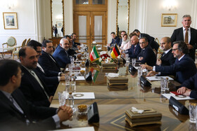 Iranian (L) and German  delegations are seen in the photo, Tehran, Iran, June 10, 2019.