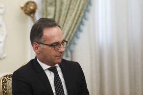 German Foreign Minister Heiko Maas is seen in his meeting with Iranian President Hassan Rouhani, Tehran, Iran, June 10, 2019.