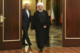 Iranian President Hassan Rouhani is seen in his meeting with German Foreign Minister Heiko Maas, Tehran, Iran, June 10, 2019.