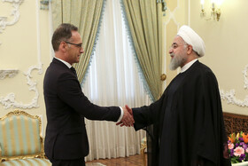 Meeting between Iranian President Hassan Rouhani (R) and German Foreign Minister Heiko Maas, Tehran, Iran, June 10, 2019.