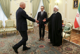 Meeting between Iranian President Hassan Rouhani and German Foreign Minister Heiko Maas, Tehran, Iran, June 10, 2019.
